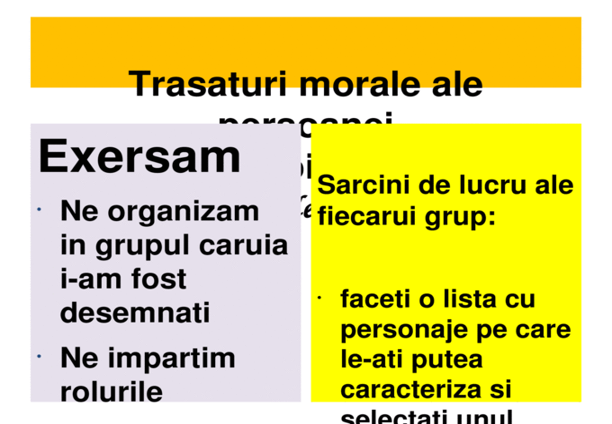 Presentare Ppt Trasaturi Morale